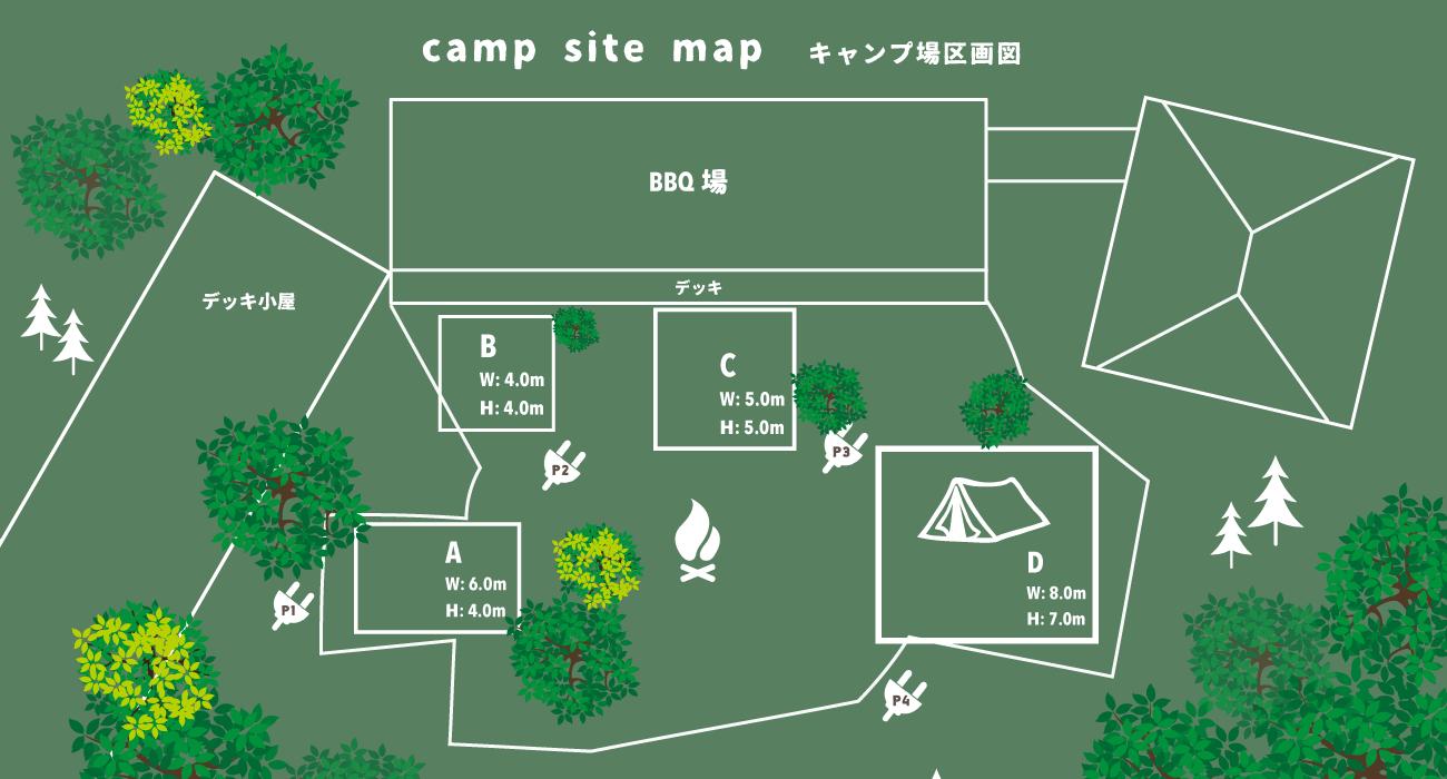 camp site map キャンプ場区画図