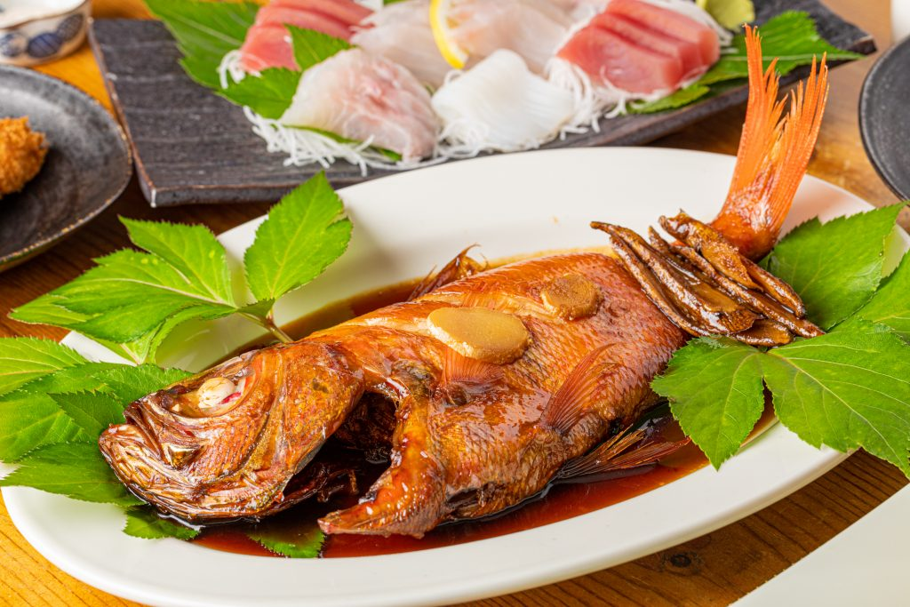 ガーデンヴィラ白浜:金目鯛の煮付け